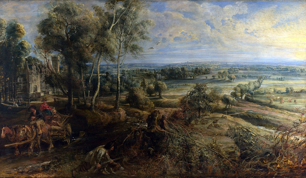 Peter_Paul_Rubens_-_A_View_of_Het_Steen_in_the_Early_Morning