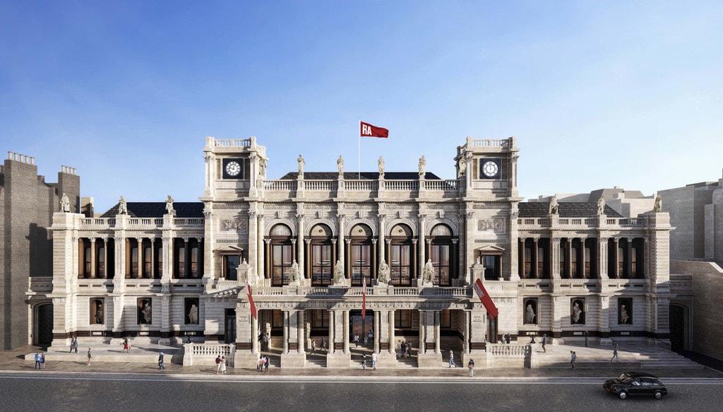 RA Façade of the Royal Academys Burlington Gardens in 2018