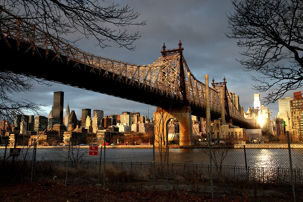 The Queensboro Bridge, New York, America - Dec 2012