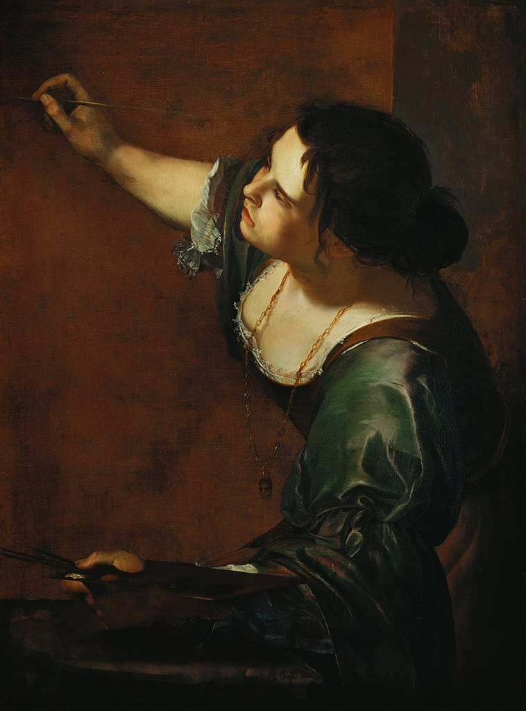 """Artemisia Gentileschi, 'Self-Portrait as the Allegory of Painting', 1638–1639 