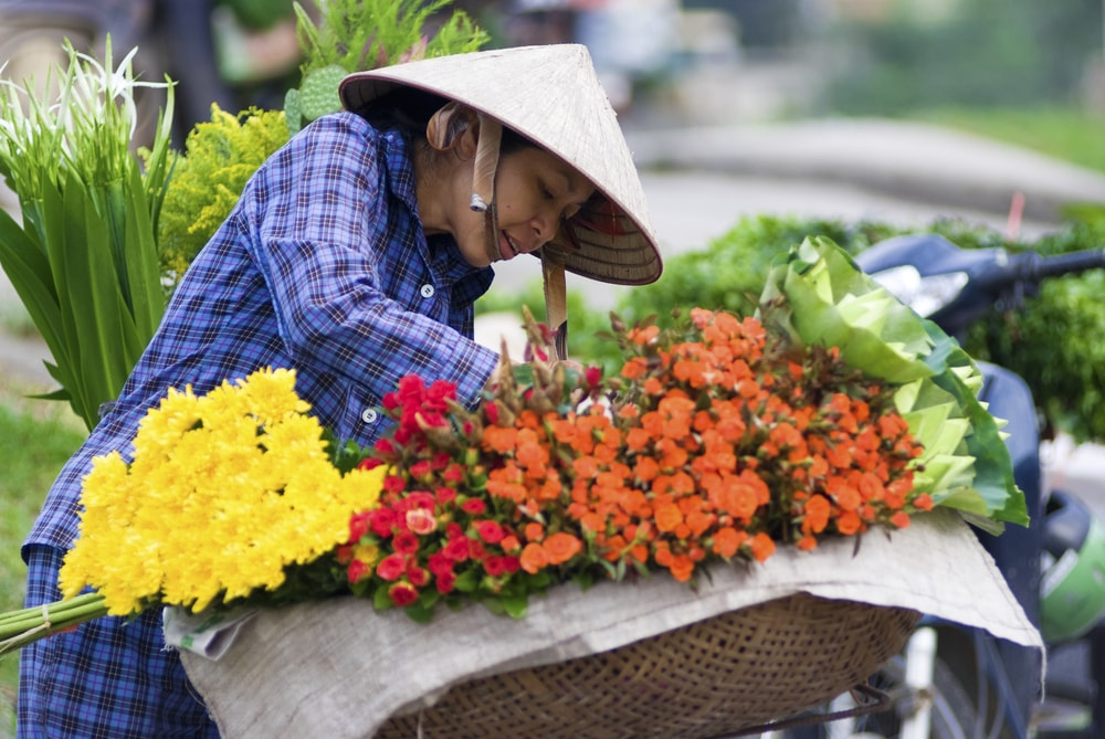 Flowers for sale at Quang Ba | © gnomeandi/Shutterstock