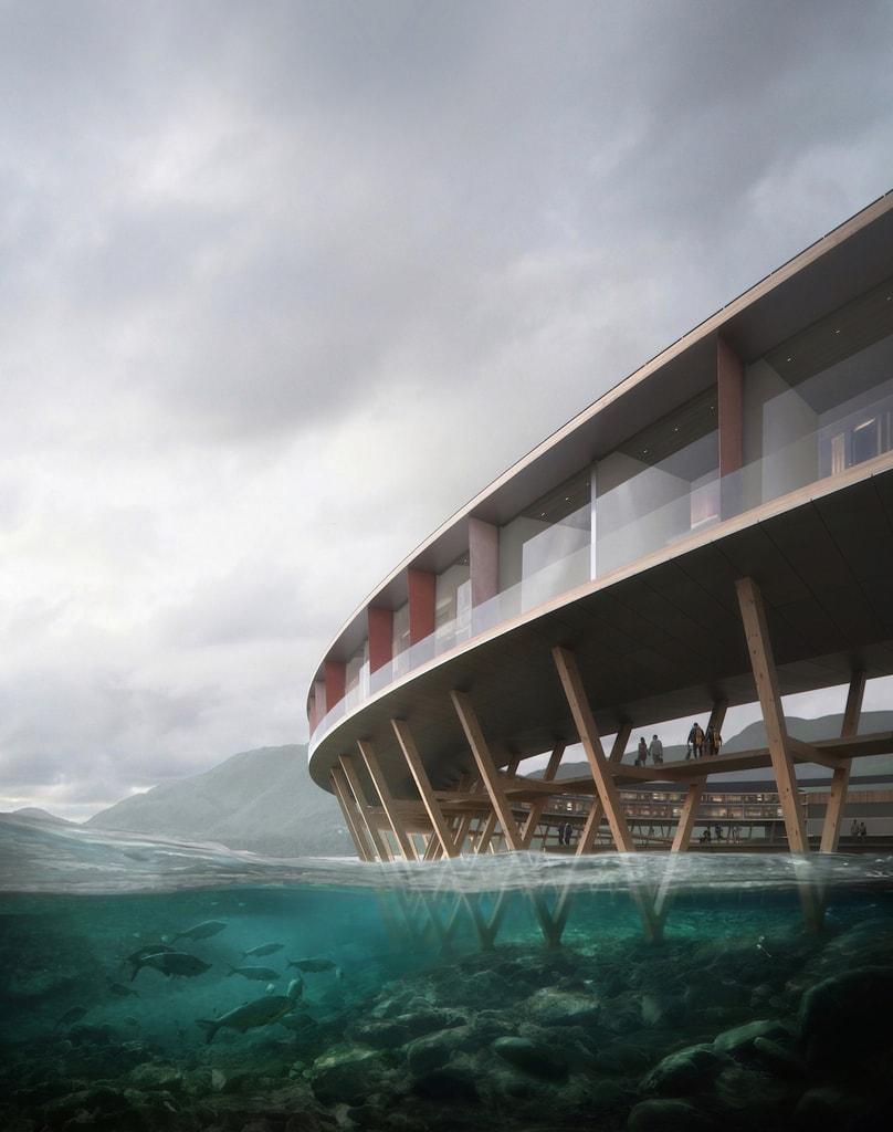The hotel will be part of the ecosystem | © Snøhetta/Plompmozes, Courtesy of Snøhetta