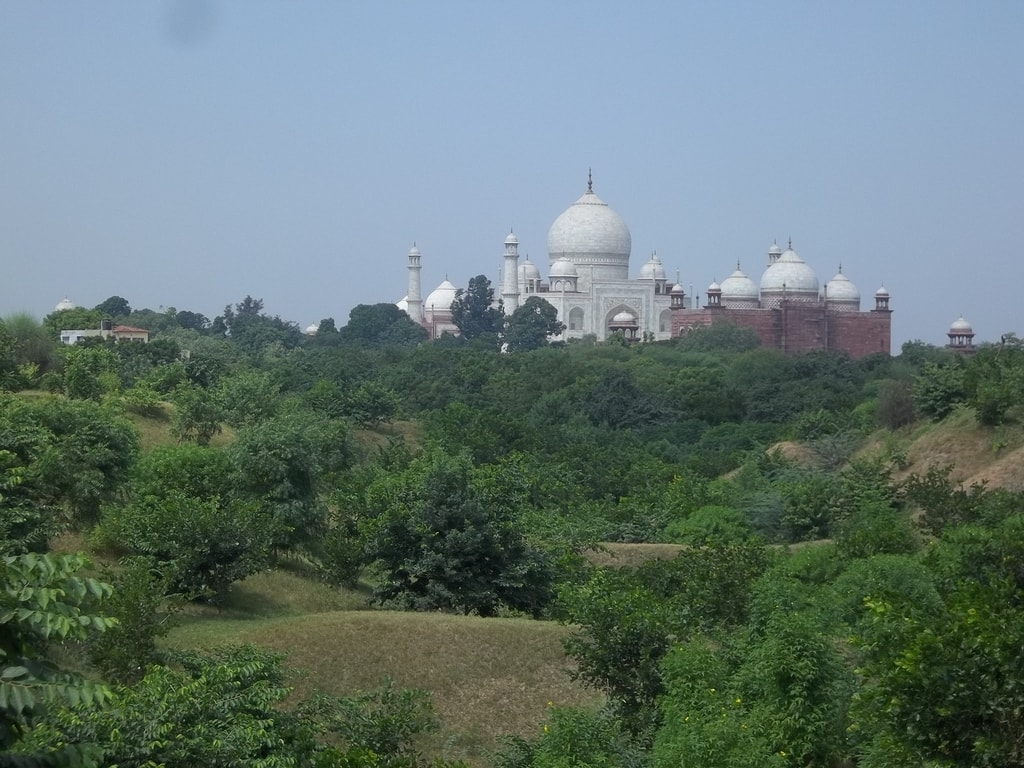 Taj Mahal from Nature Walk Trail