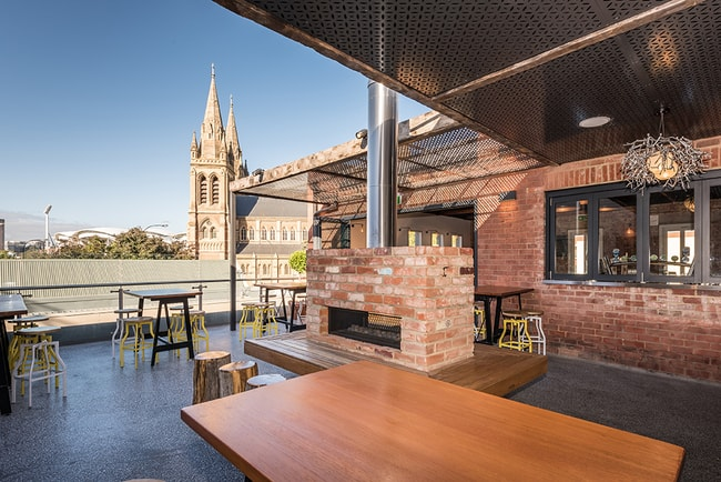 The Cathedral Hotel rooftop | © Courtesy of the Cathedral Hotel