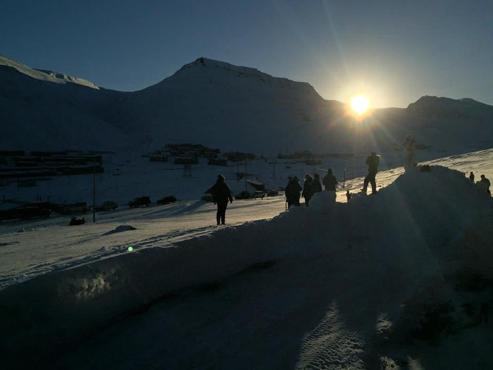 The moment the sun rises again | Courtesy of Longyearbyen Kulturhus