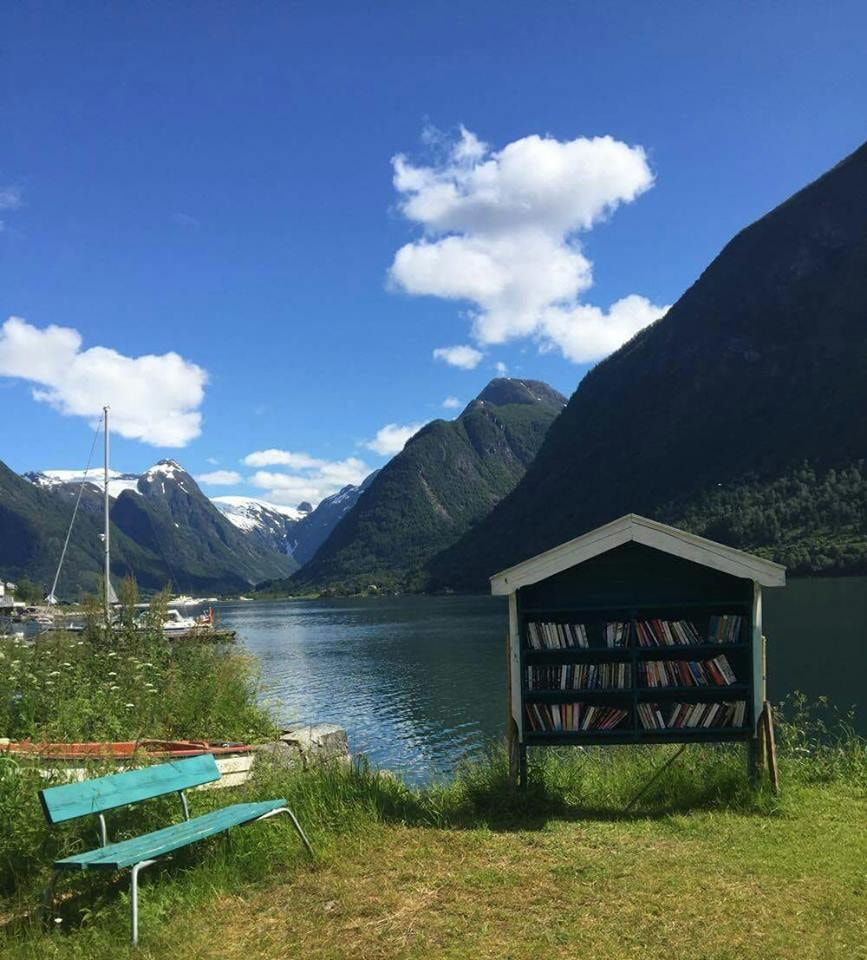 Just sit down with a book | Courtesy of Den norske bokbyen