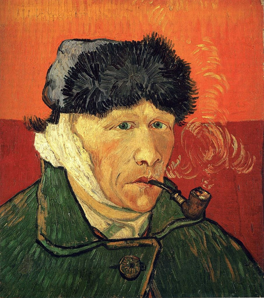 "Vincent van Gogh, 'Self-Portrait with Bandaged Ear and Pipe,' 1889 | <a href=""https://commons.wikimedia.org/wiki/File:Vincent_van_Gogh_-_Self_portrait_with_bandaged_ear_F529.jpg"" target=""_blank"" rel=""noopener"">© WikiCommons</a>"