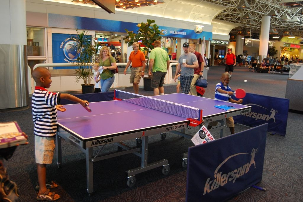 Ping Pong at General Mitchell International Airport   © VISIT Milwaukee