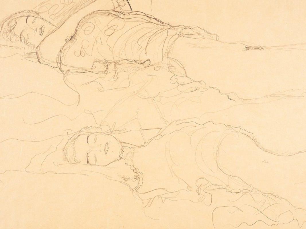 Zwei_Liegende_(Two_Reclining_Figures)_by_Gustav_Klimt