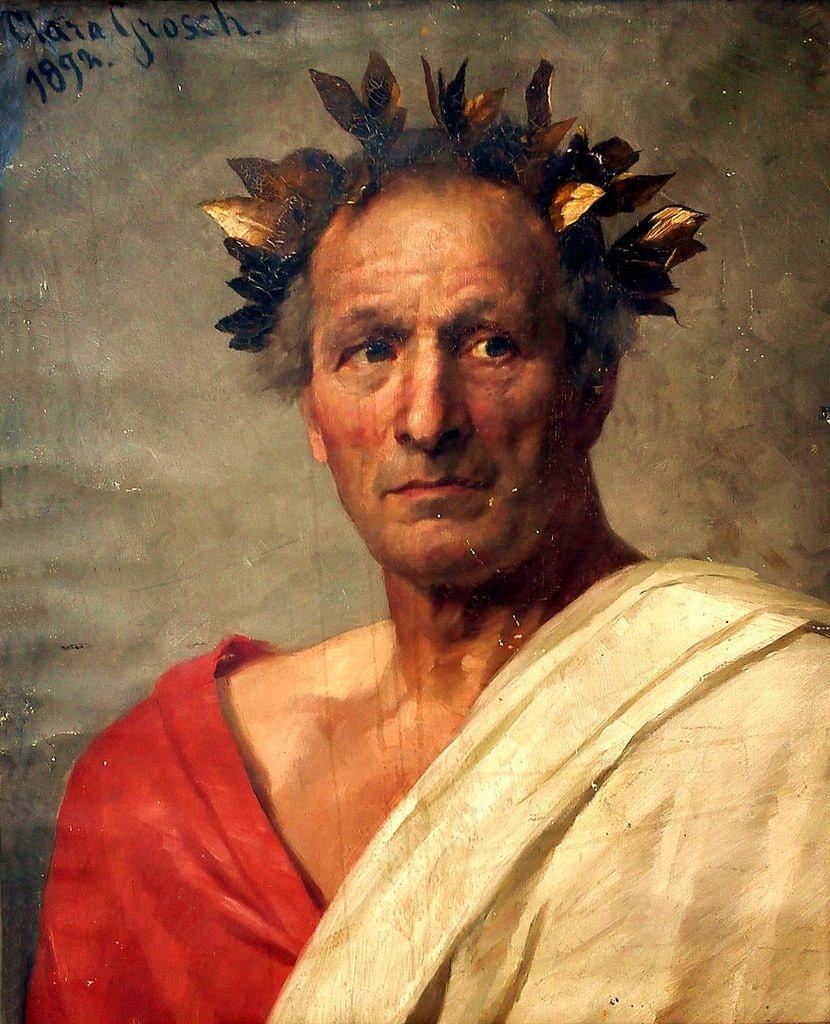 An 1892 portrait of Caesar by Clara Grosch | © Clara Grosch/WikiCommons