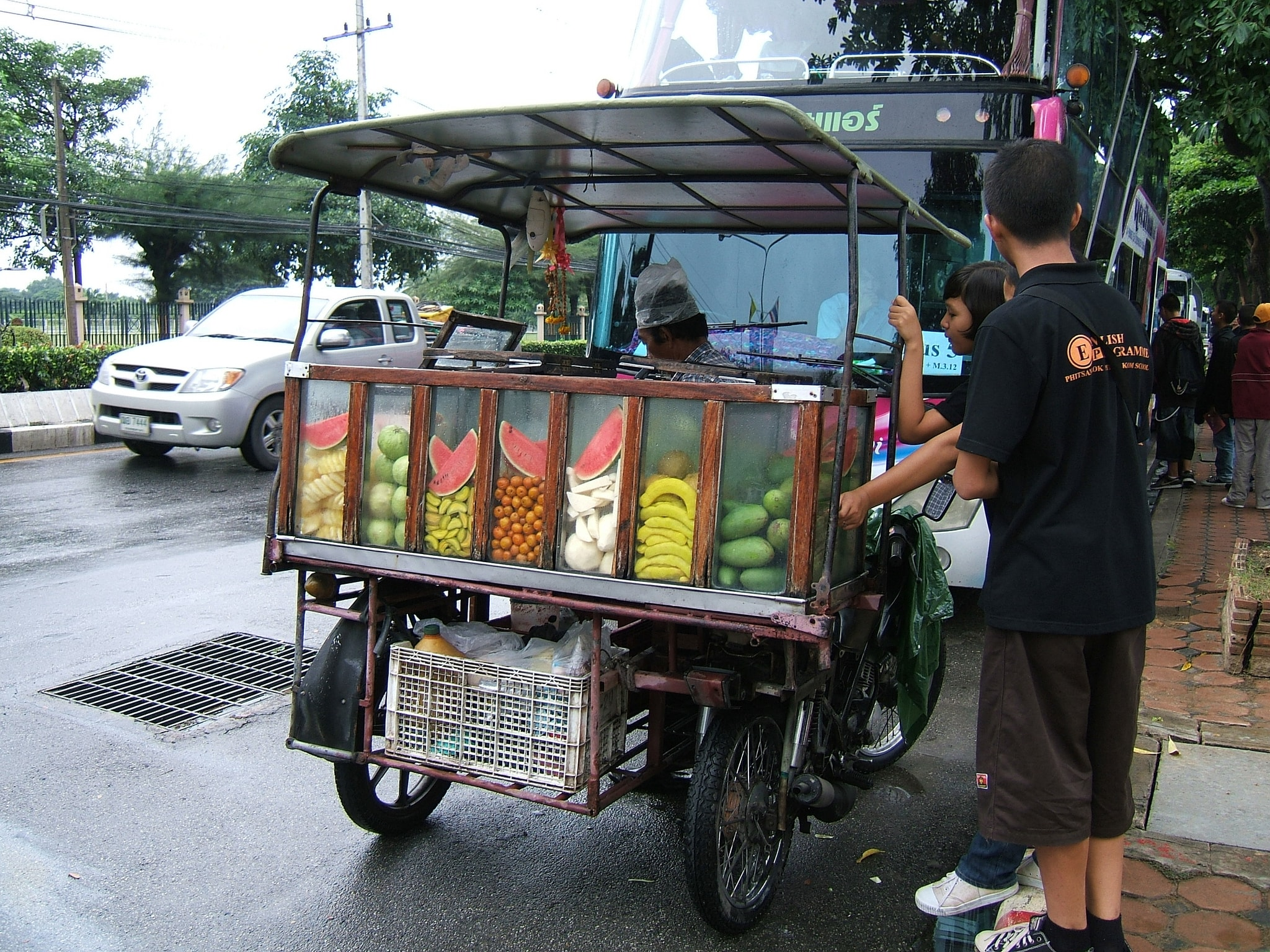 Fruit vendor in Thailand