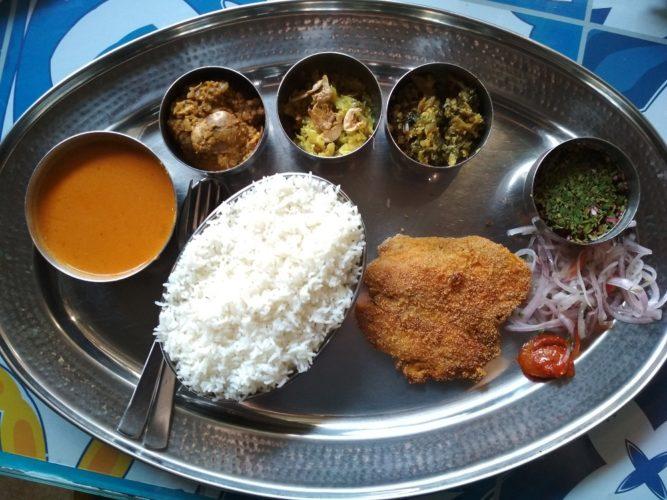 The Goan Room's standard fish thali
