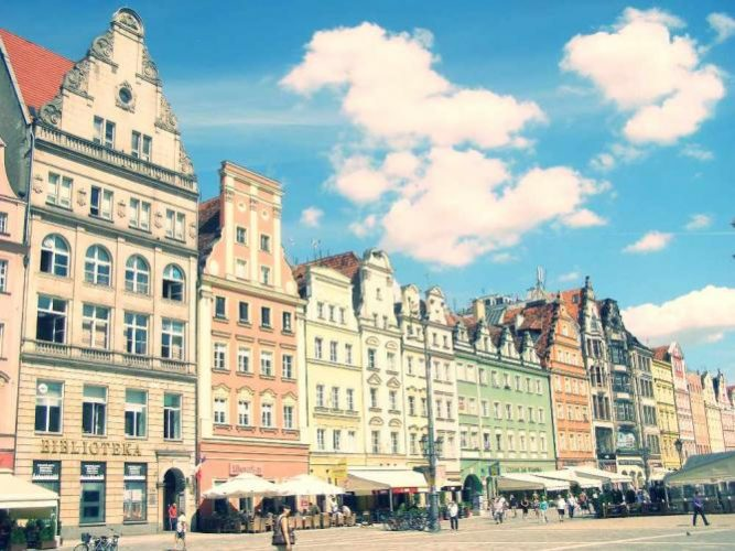 Wrocław's Old Town market square
