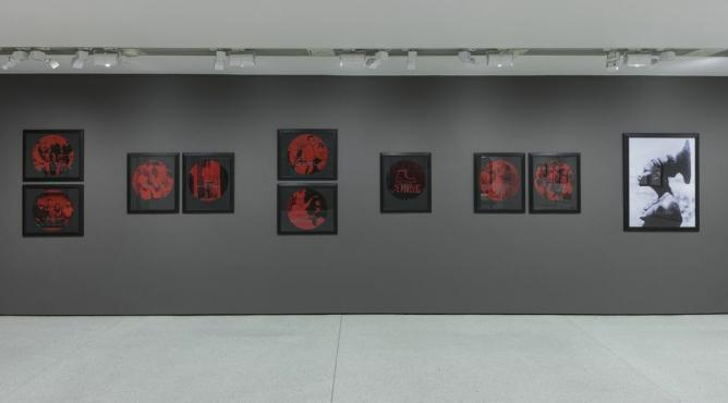 Installation view of Carrie Mae Weems: Three Decades of Photography, Solomon R. Guggenheim Museum, 2014