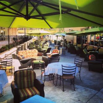Ya Ya's Euro Bistro outdoor seating area