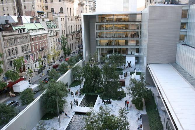 MOMA New York Courtyard, from the Café 5 terrace after remodel by architect Yoshiro Taniguchi