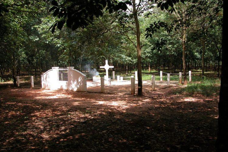 The Memorial Cross in the Long Tan Rubber Plantation