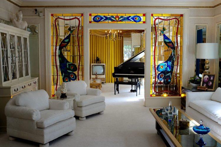 Living room in the Graceland Mansion