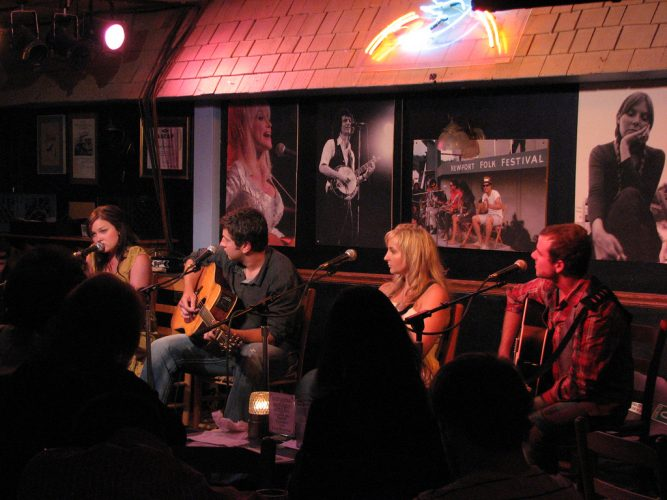 Performers at the Bluebird Cafe in Nashville