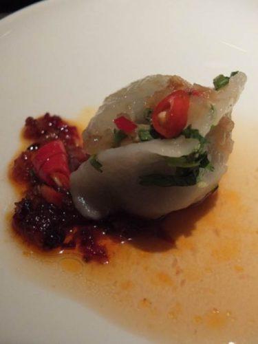 Poached Peking Chicken Dumpling at Yauatcha