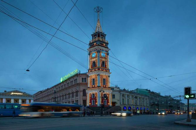 The City Duma Tower on Nevsky Prospect