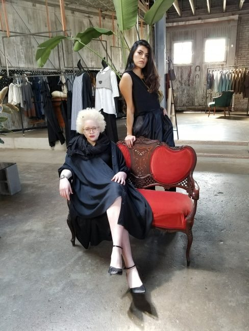 Models showcase the newest line of Julie McCullough, Folksie