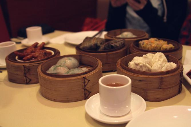 A selection of dim sum