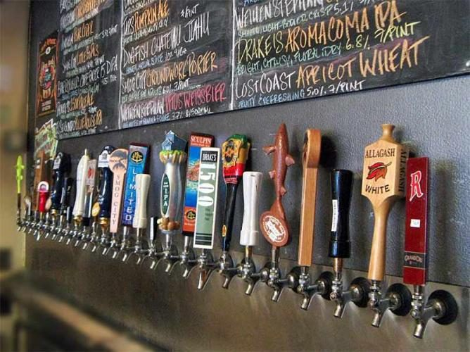 Beer on tap at Library Alehouse