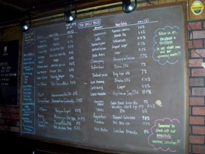 Beer Selection at The Daily Pint