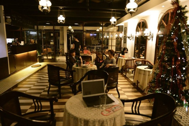 Indoor Lounge at Capsule Hotel
