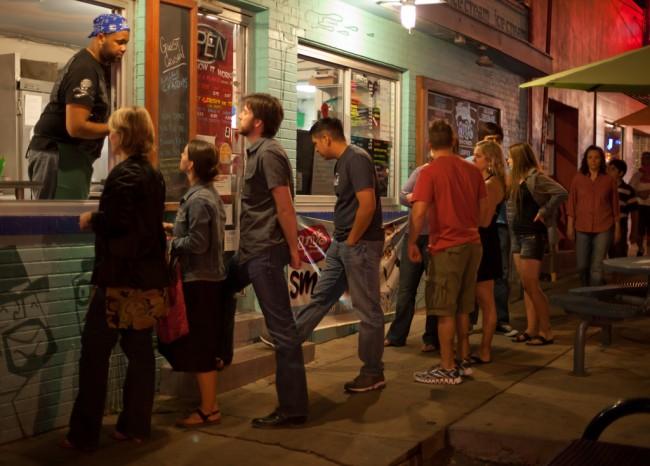 Queue for Amy's Ice Cream, South Congress