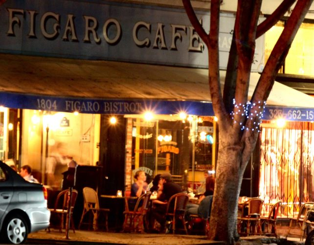 Sidewalk seating at Figaro Café