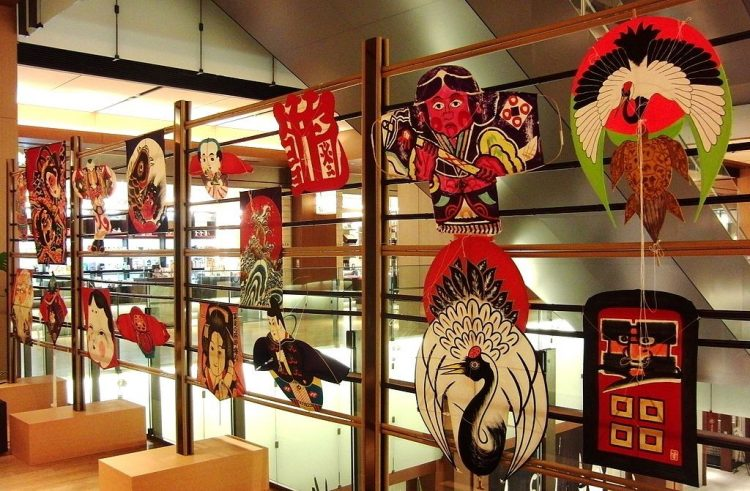 An image of Japanese kites