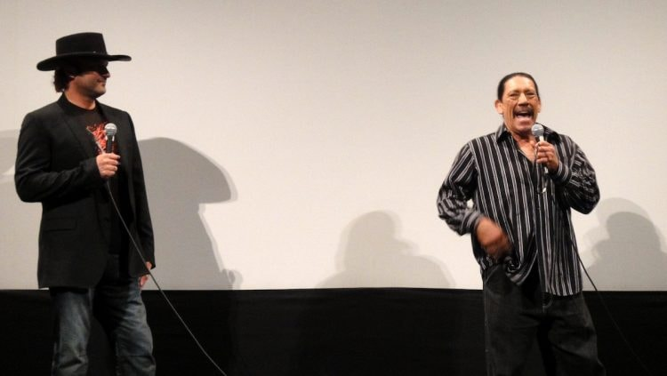 Robert Rodriguez and Danny Trejo at the Austin Film Society