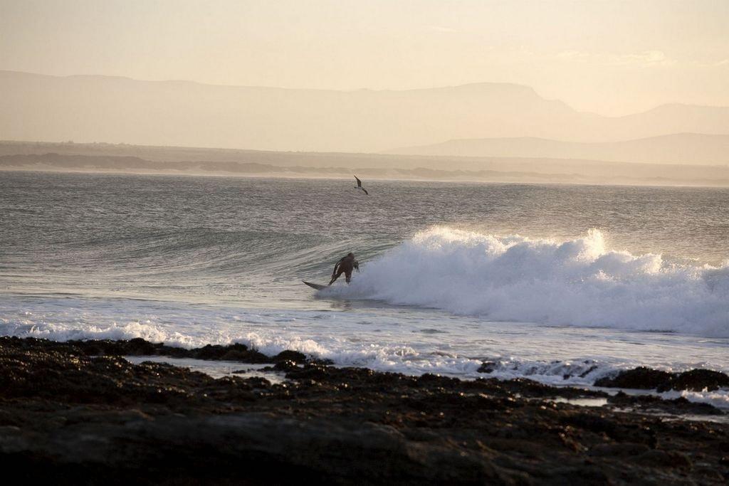 Surfing in Jeffreys Bay