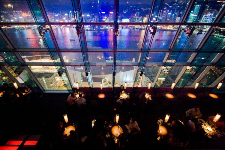 Aqua Bar and Restaurant in Hong Kong.