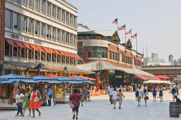 South Street Seaport Historic District in New York City