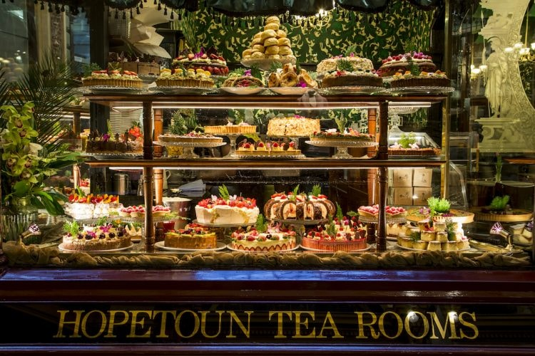Cake cabinet at the Hopetoun Tea Rooms © Hopetoun Tea Rooms