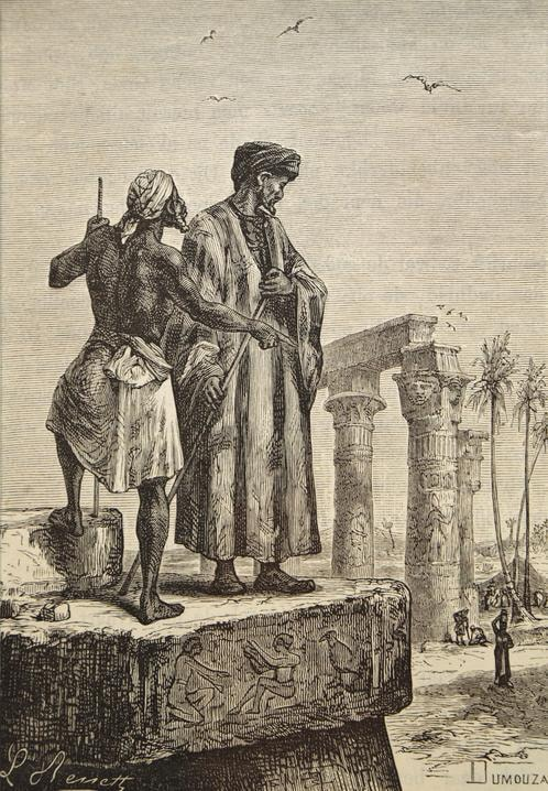 Handmade_oil_painting_reproduction_of_Ibn_Battuta_in_Egypt,_a_painting_by_Hippolyte_Leon_Benett.