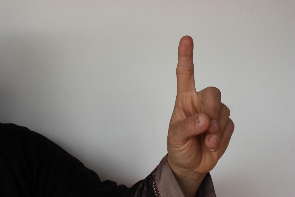 First of Abbass microbus hand signal