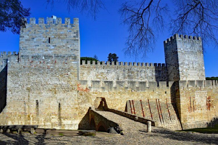 Up close to the Castle of São Jorge
