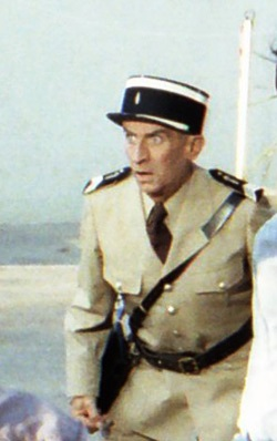Louis de Funès shooting in St Tropez