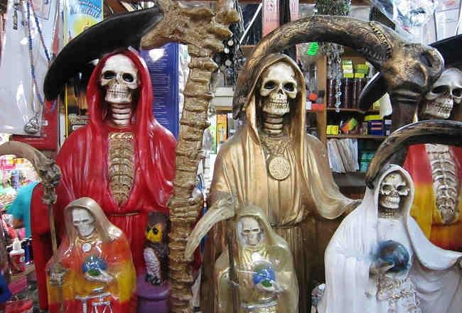 Santa Muerte in San Juan de Dios Market, Guadalajara