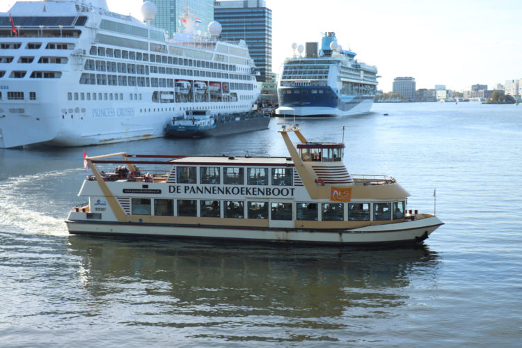 Pannenkoekenboot (Pancake boat) near the Passenger Terminal Amsterdam