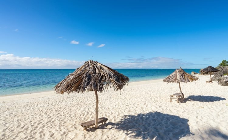 Umbrellas on the beach. Philippines. Bantayan Island | © upslim/Shutterstock