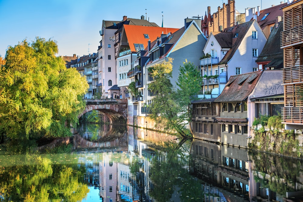 The riverside of Pegnitz river in Nuremberg town, Germany | © Val Thoermer/Shutterstock