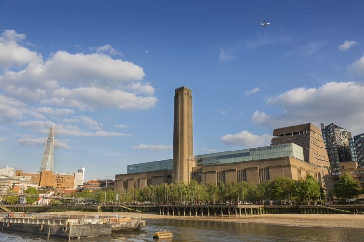 London's Tate Modern is located on the banks of the River Thames