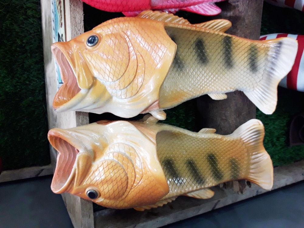 bfecaec88 Life-Like Fish Slippers Are All the Rage in Thailand Right Now