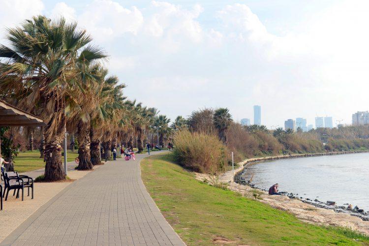 The Yarkon park in Tel-Aviv.