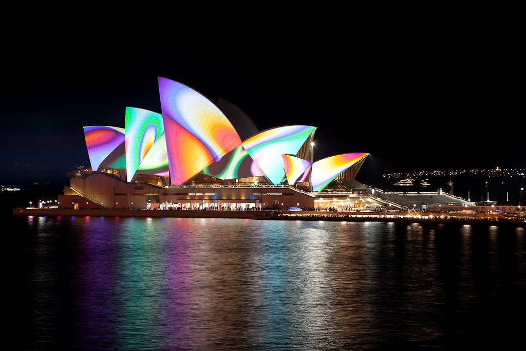 The Sydney Opera House at Vivid Sydney © Pavel/Flickr
